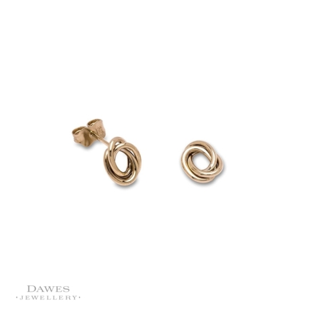 9ct Yellow Gold Oval Stud Earrings