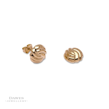 9ct Yellow Gold Fancy Stud Earrings