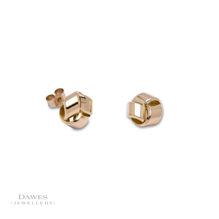 9ct Yellow Gold Knot Stud Earrings