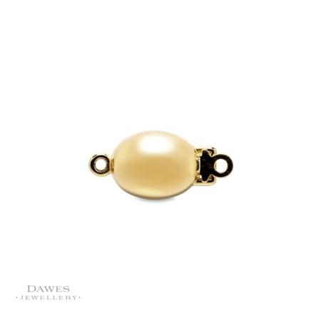 9ct Yellow Gold Oval Jewellery Clasp