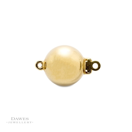 9ct Yellow Gold Ball Clasp 10mm