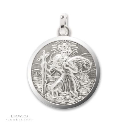 Sterling Silver St Christopher Pendant 20mm