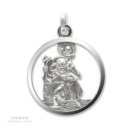 Sterling Silver Openwork St Christopher Pendant