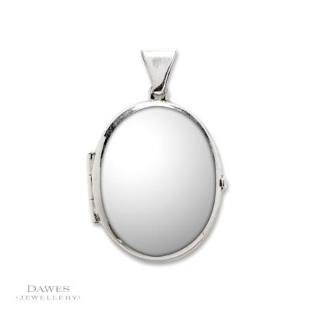 Sterling Silver Plain Oval Locket