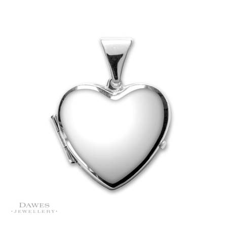 Silver Plain Heart Shape Locket