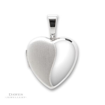 Silver Two Tone Heart Shape Locket