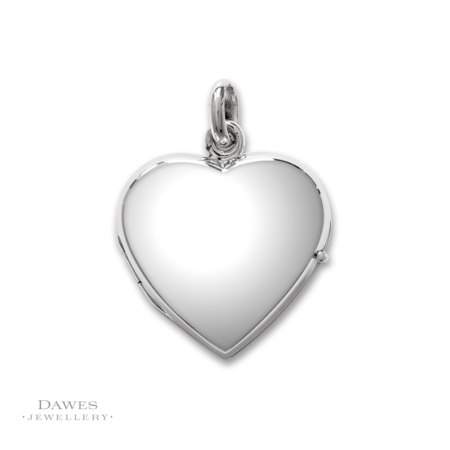Plain Silver Heart Shape Locket