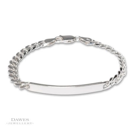 Ladies Sterling Silver Identity Bracelet