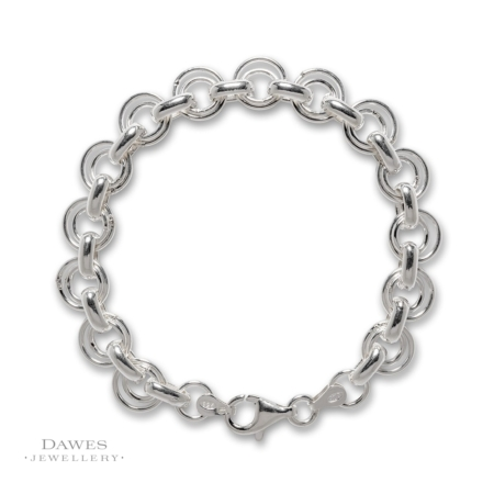 Fancy Sterling Silver Circle Link Bracelet