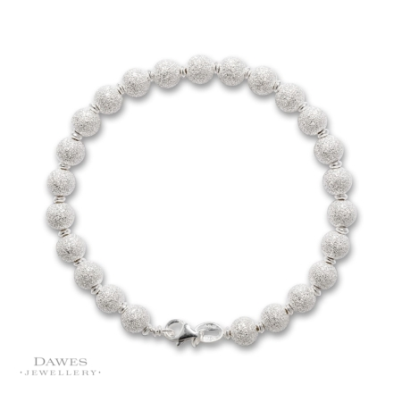 Sterling Silver Glitter SnowBall Bracelet