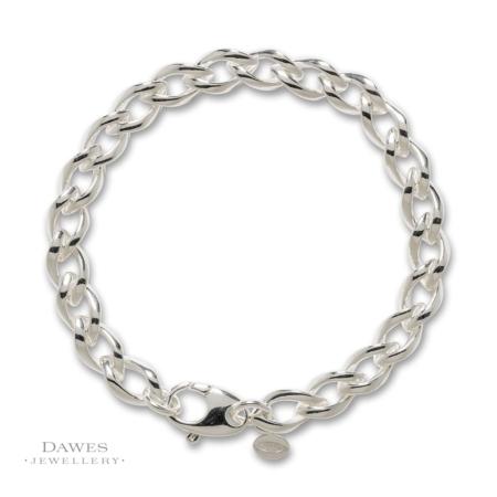 Sterling Silver Fancy Curb Bracelet