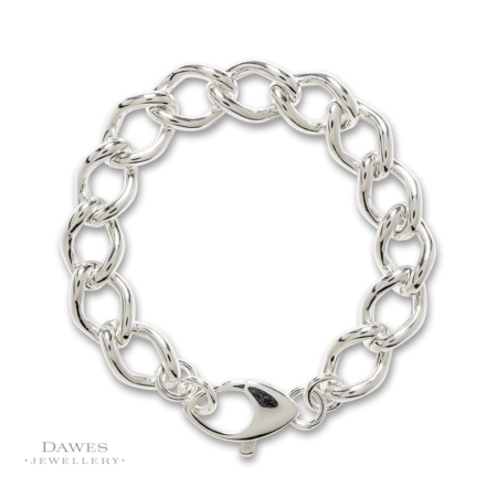 Sterling Silver Fancy Curb Link Bracelet