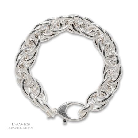 Chunky Sterling Silver Prince Of Wales Bracelet