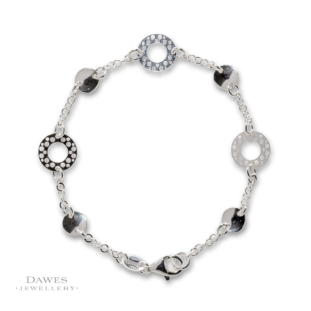 Sterling Silver Lightweight Fancy Link Bracelet