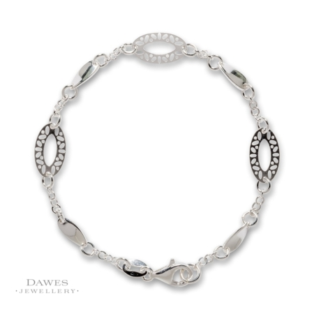 Sterling Silver Lightweight Fancy Bracelet