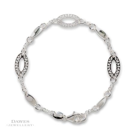 Sterling Silver Lightweight Fancy Bracelet