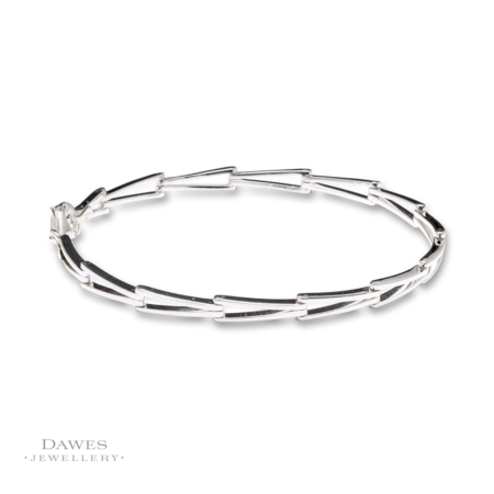 Sterling Silver Fancy Bar-Link Bracelet