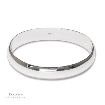 Sterling Silver Bangle 12mm Wide