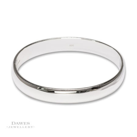 Sterling Silver Bangle 10mm Wide