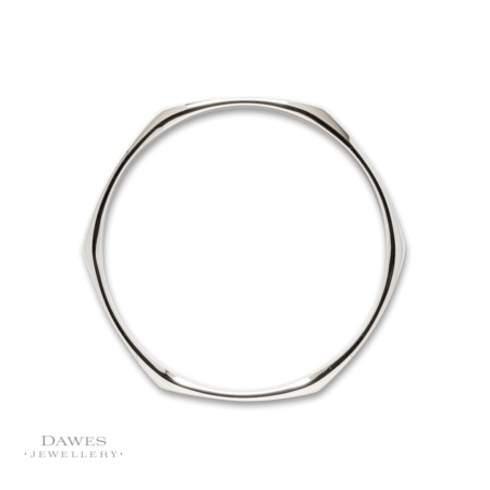 Fancy Solid Silver Slave Bangle