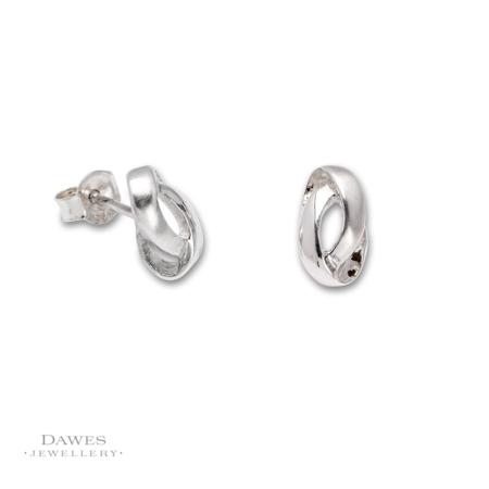 Sterling-Silver Fancy Shaped Stud Earrings