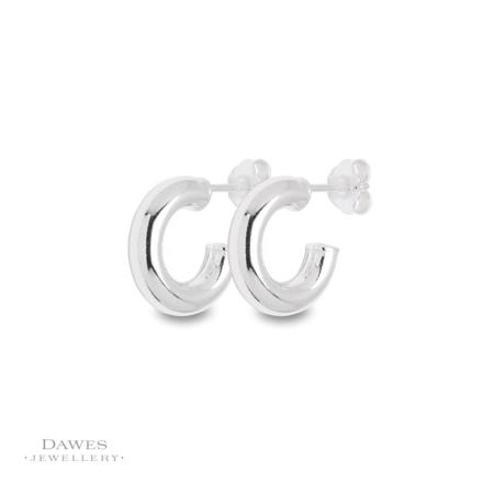 Small Plain Silver Hoop Earrings