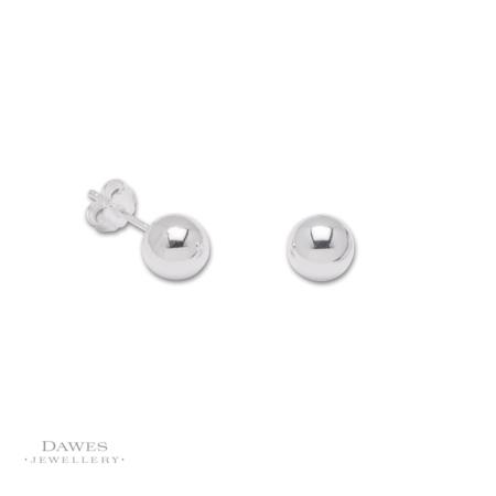 Sterling Silver 8mm Ball Stud Earrings