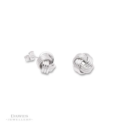 Sterling Silver Knot Stud Earrings