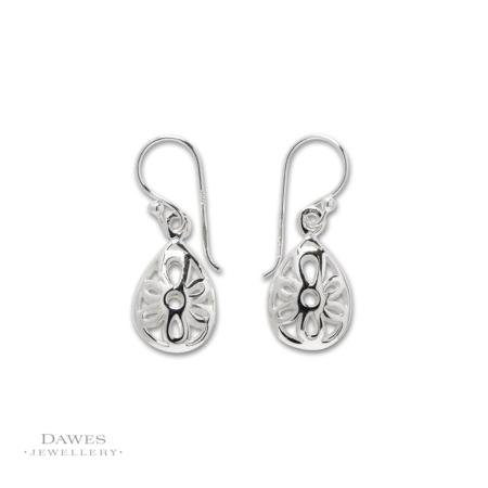 Sterling Silver Fancy Drop Earrings