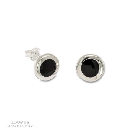 Sterling Silver Black Onyx Stud Earrings