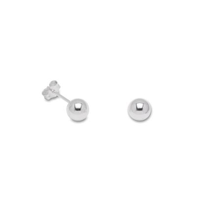 Sterling Silver 6mm Ball Stud Earrings