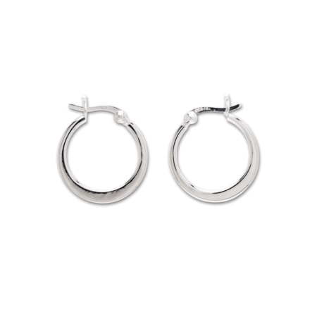 Sterling Silver Crescent Hoop Earrings