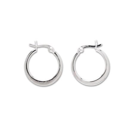 Sterling Silver Crescent Hoop Earrings