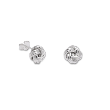 Sterling Silver Knot Stud Earrings