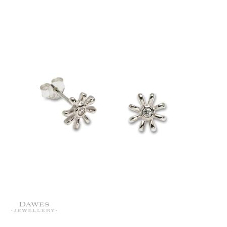 Sterling Silver Starburst Stud Earrings