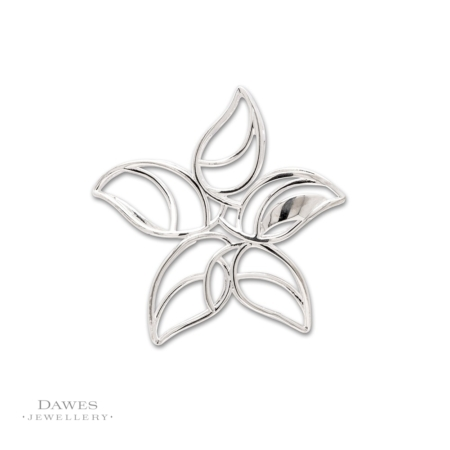 Sterling Silver Fancy Flower Pendant