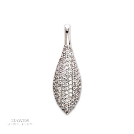Silver Pavé Set Cubic Zirconia Pendant