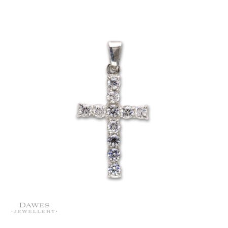 Sterling Silver Cubic Zirconia Cross
