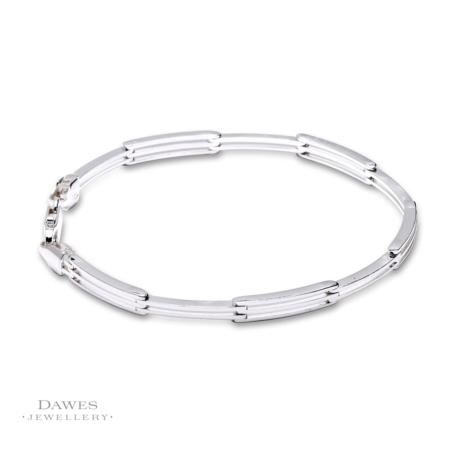 Sterling Silver Fancy Link Bracelet 19cm