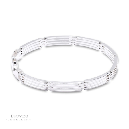 g Silver Four Bar Gate Bracelet