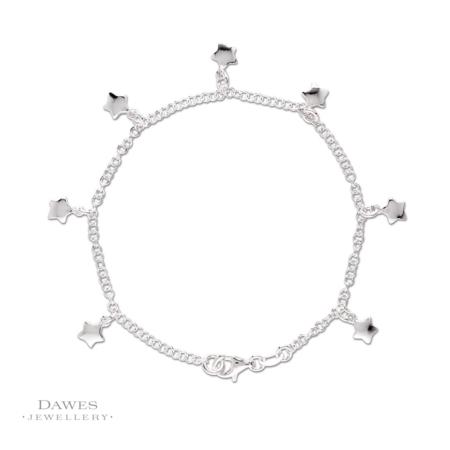 Sterling Silver Star Charm Bracelet