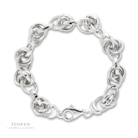 Sterling Silver Fancy Link Bracelet 21cm