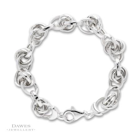 Sterling Silver Fancy Link Bracelet 21cm