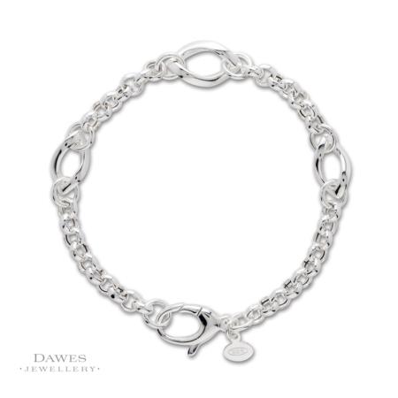Sterling Silver Twist Link Bracelet 19.5cm
