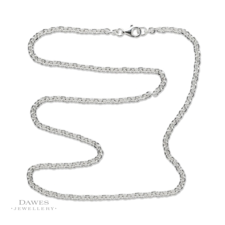Sterling Silver Cable Chain 18 Inch