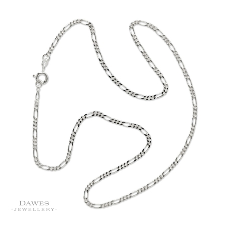 Sterling Silver Figaro Chain 50cm
