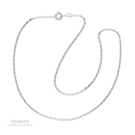 """Sterling Silver Barleycorn Chain 16"""""""