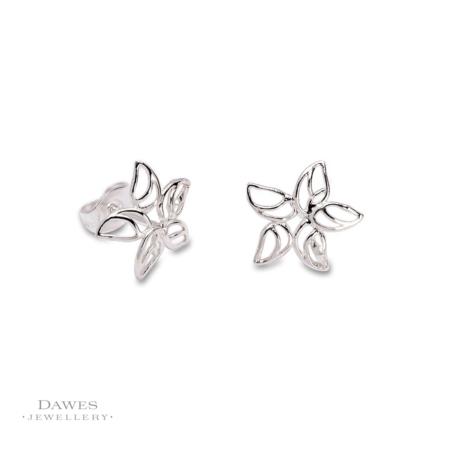 Silver Star Shape Stud Earrings