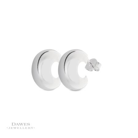 Sterling Silver Snug Fit Hoop Earrings