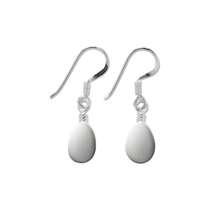 Sterling Silver Teardrop Drop Earrings
